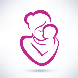 23867293 - mom and baby vector icon