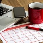 calendar with laptop