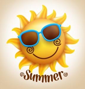 smiley sun vector for summer