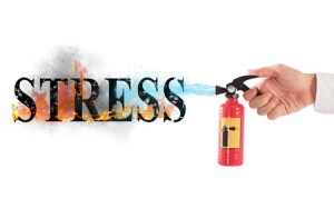 53502633 - extinguisher off with water the word stress